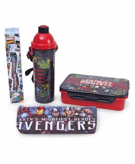 Marvel Avengers School Kit Black & Red - Pack of 4