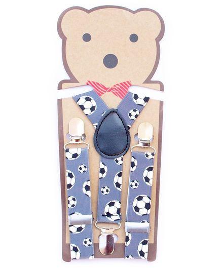 Kidofash Football Printed Suspenders - Blue
