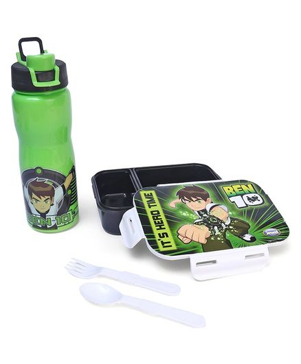 Ben 10 Lunch Box & Insulated Water Bottle - Green
