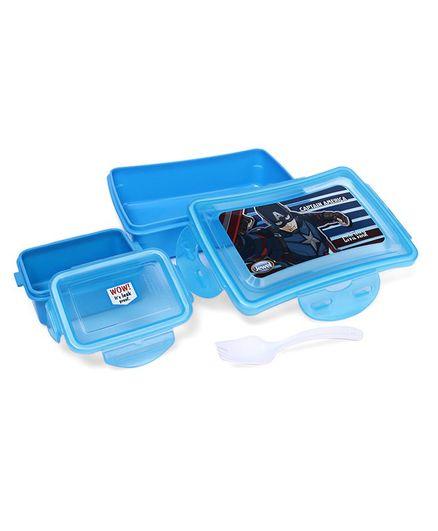 Marvel Lunch Box Captain America Print - Blue