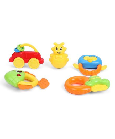 IndiaBuy Rattle Set Multicolour - Pack of 5