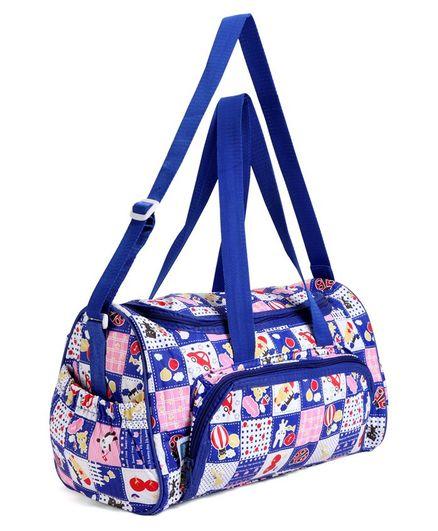 Mee Mee Diaper Bag With Cartoon Print - Blue