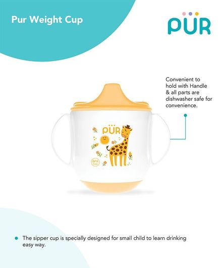 Pur Twin Handle Weight Cup Yellow - 230 ml