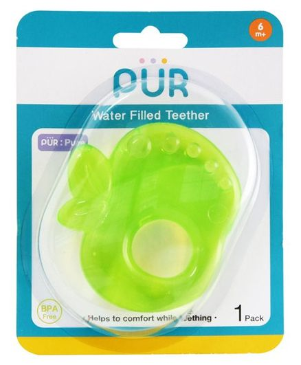 Pur Apple Shaped Water Filled Teether - Green