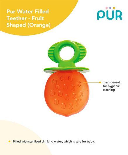 Pur Orange Shaped Water Filled Teether - Orange