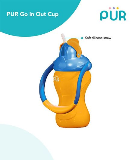 Pur Goin Out Sipper Cup Yellow & Blue - 250 ml