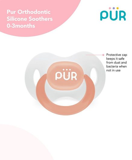 Pur Orthodontic Silicone Soother - Orange