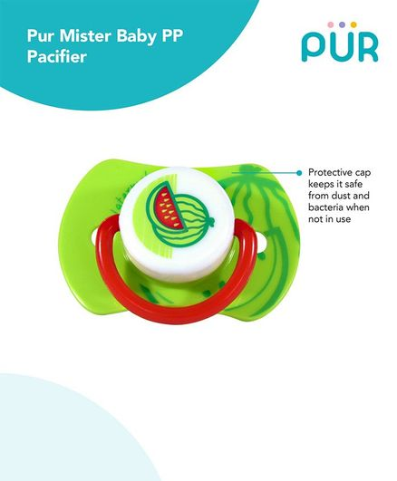 Pur Mister baby PP Pacifier - Green