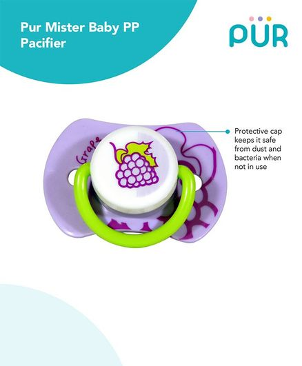 Pur Mister baby PP Pacifier - Purple