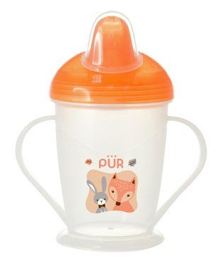 Pur Twin Handle Non Spill Cup Orange - 250 ml
