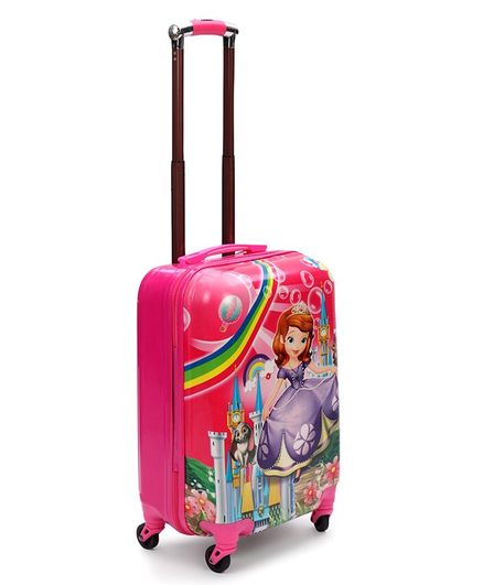 Disney Kids Trolley Bag Pink - Height 18.3 Inches
