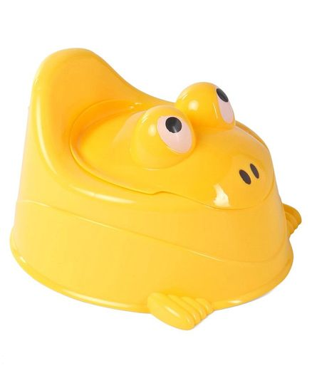 Froggy Shaped Potty Chair With Lid - Yellow