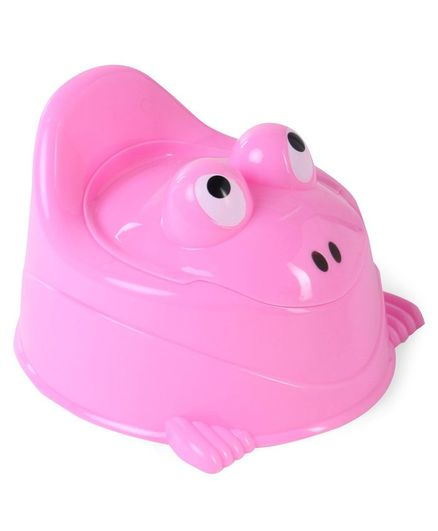 Froggy Shaped Potty Chair With Lid - Pink