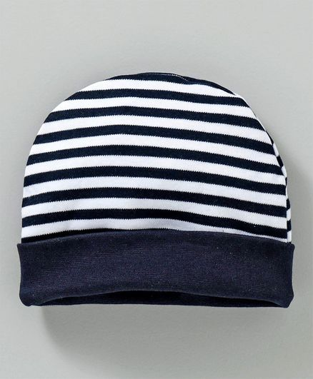 Babyhug Cotton Cap Stripes Pattern White Blue Online in India e75c823383da