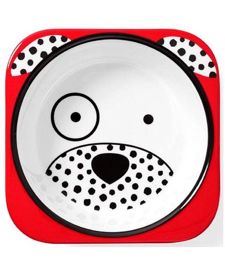 Skiphop Melamine Bowl Dalmatian Dog Print - Red
