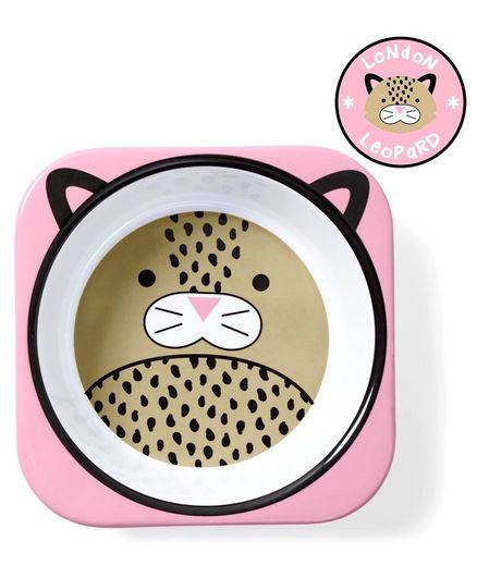 Skiphop Melamine Bowl Leopard Print - Pink