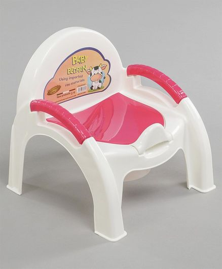 Baby Potty Chair with Handles - Red