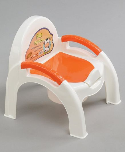 Baby Potty Chair with Handles - Orange