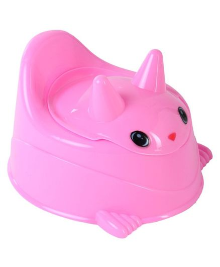 Bunny Shaped Baby Potty Chair With Lid - Pink