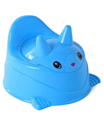 Bunny Shaped Baby Potty Chair With Lid - Blue