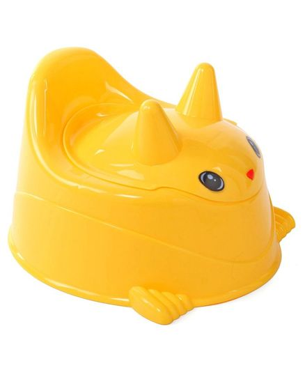 Bunny Shaped Baby Potty Chair With Lid - Yellow