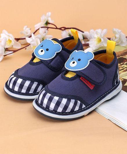 Cute Walk by Babyhug Casual Shoes Teddy Patch - Navy Blue