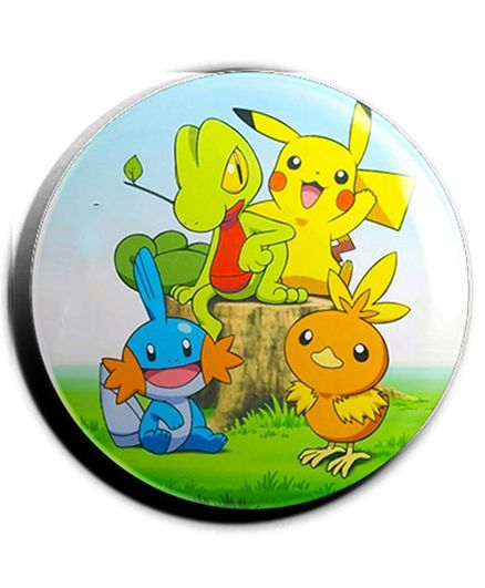 Funcart Pokemon Plastic Button Pin Badge - Multicolor