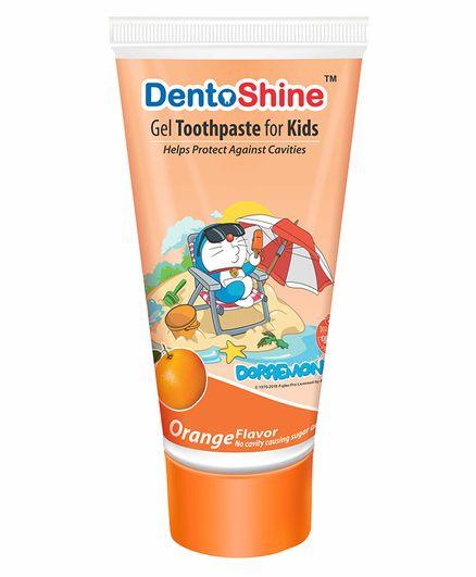 DentoShine Orange Flavoured Gel Toothpaste Doraemon Print - 80 g