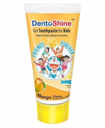 DentoShine Mango Flavoured Gel Toothpaste Doraemon Print - 80 g