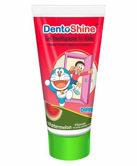 DentoShine Watermelon Flavoured Gel Toothpaste Doraemon Print - 80 g