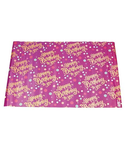 Karmallys Gift Wrapper Happy Birthday Print Pack Of 5 - Pink