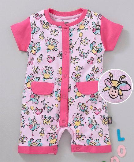 0a704803f Buy NOQ NOQ Fairy Print Half Sleeves Romper Pink for Girls (6-9 ...