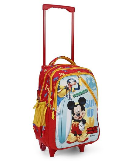 Disney Trolley School Bag Minnie Mouse Print Red - 17 inches