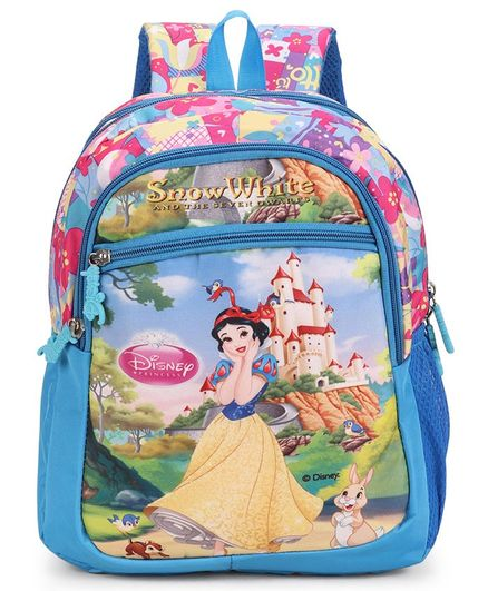 de9ab1cbfc1d Disney Snow White School Bag Blue Height 16 Inches Online in India ...