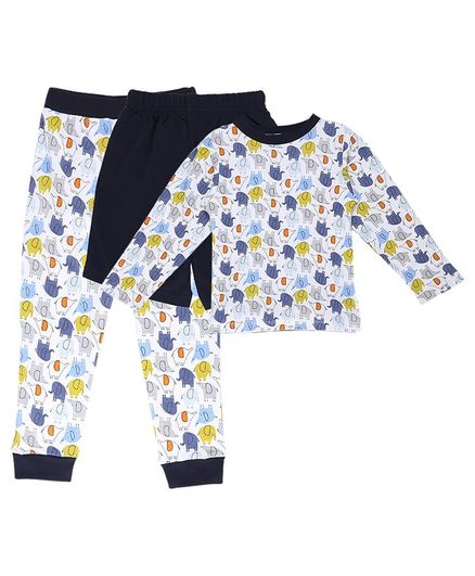 My Milestones Clothing Gift Set Elephant Print Blue - 3 Piece