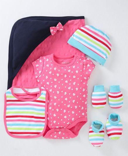 Babyoye Cotton Infant Clothing Gift Set Pack of 6 - Multicolour