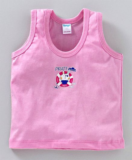 Tango Sleeveless Vest Pirate Bunny Print - Pink