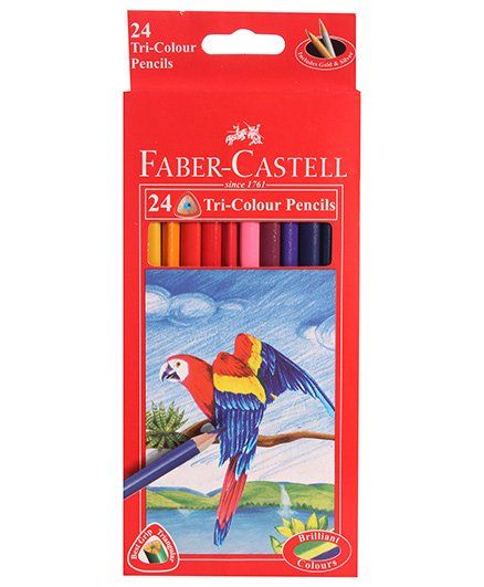 Faber Castell 24 Tri-Colour Pencils