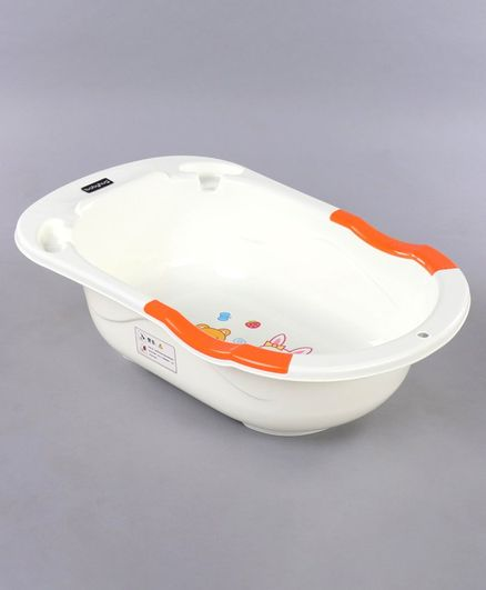 Babyhug Baby Bath Tub Bunny Print - Orange & White