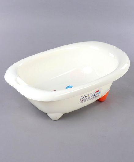 Babyhug Baby Bath Tub Bunny Print -White