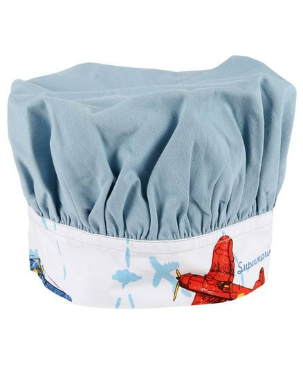 HouseThis Cotton Apron Chef Cap Gloves Set Blue Online India 3ec08a84efce