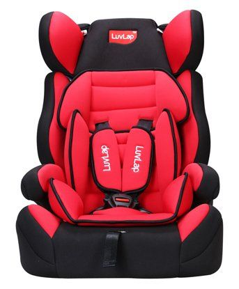 LuvLap Comfy Baby Car Seat With Adjustable Harness Height - Red
