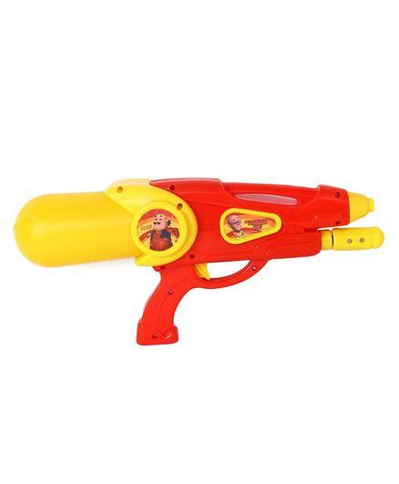 Motu Patlu Holi Water Squirter Gun - Red Yellow