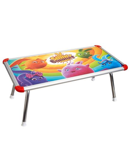 NHR Kids Multipurpose Bed Table with Foldable Legs Anime Print -Multicolor