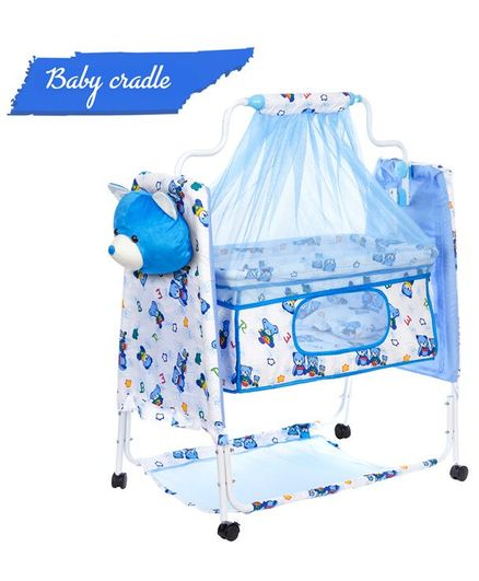 funBaby Cozy Cradle With Mosquito Net - Blue