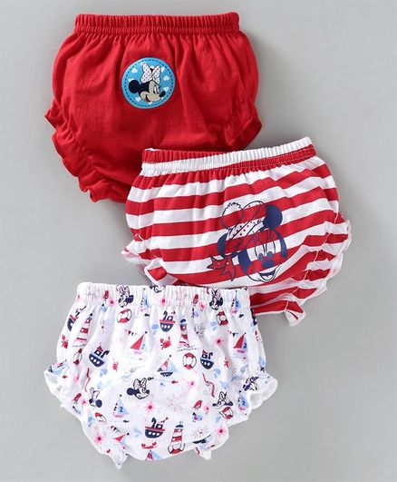 Bodycare Panties Minnie Print Pack of 3 - Red White