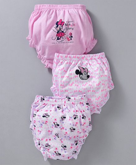 Bodycare Panties Minni Mouse Print Pack of 3 - Pink