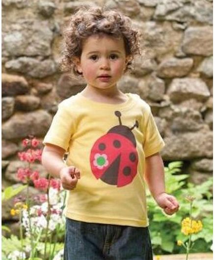 Awabox Ladybug Print Half Sleeves T-Shirt - Yellow