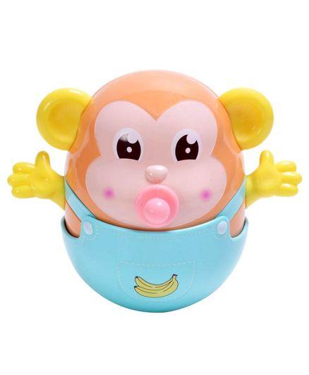 Smartcraft Tumbler Monkey Teething Toy - Multicolur