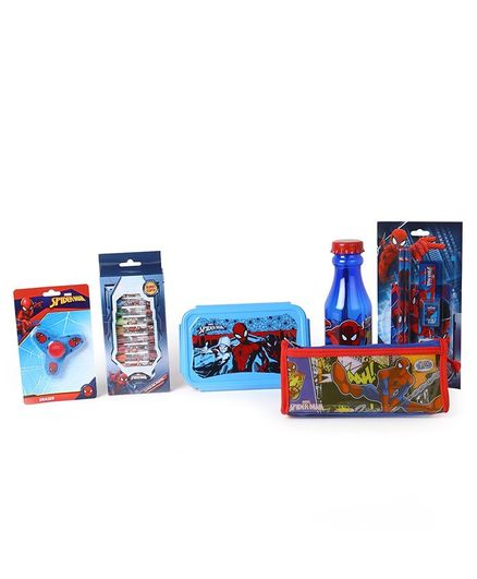 Marvel Spider Man School Kit Red & Blue - Pack Of 6
